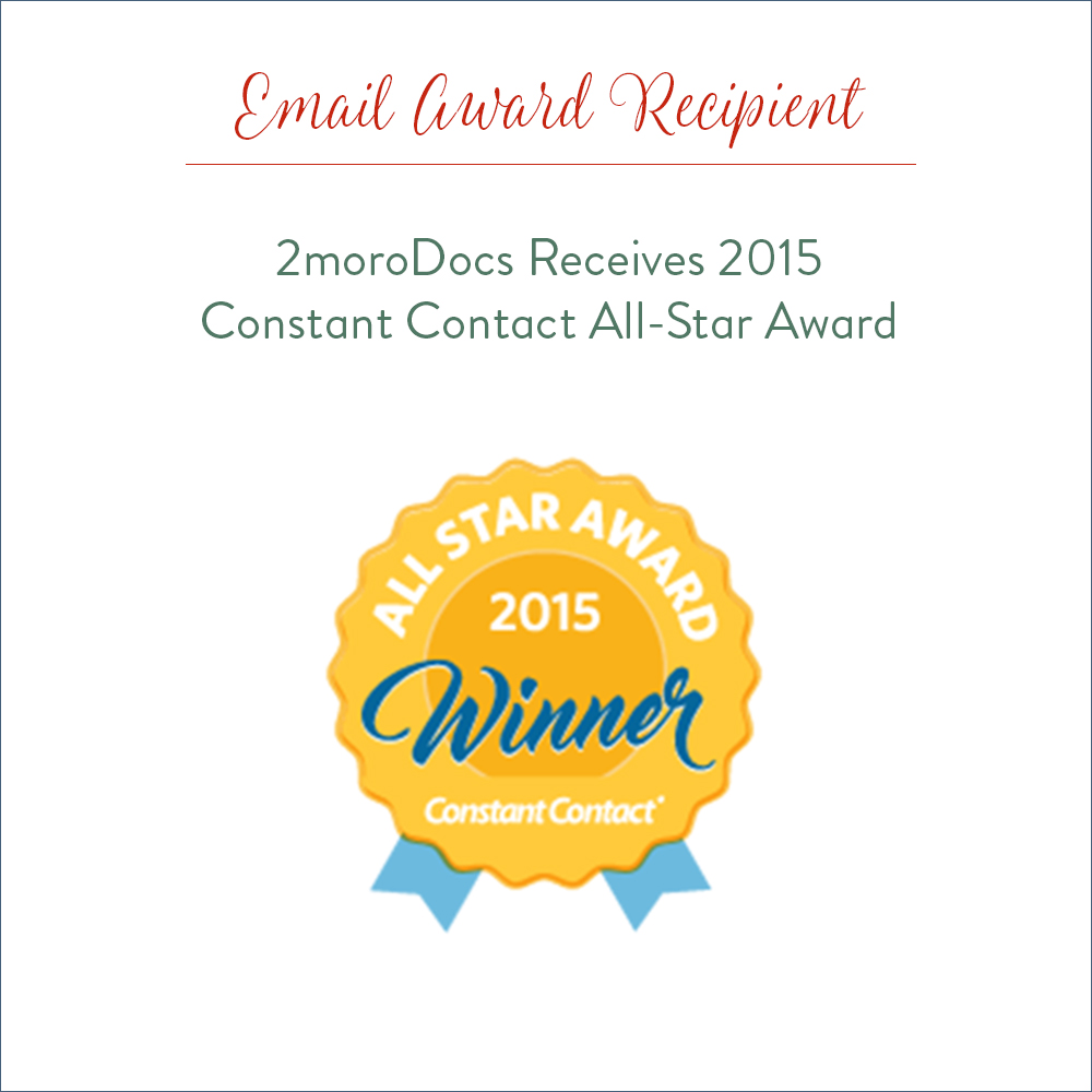 2moroDocs Receives 2015 Constant Contact All Star Award