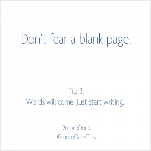 2moroDocs Tips Blank Page