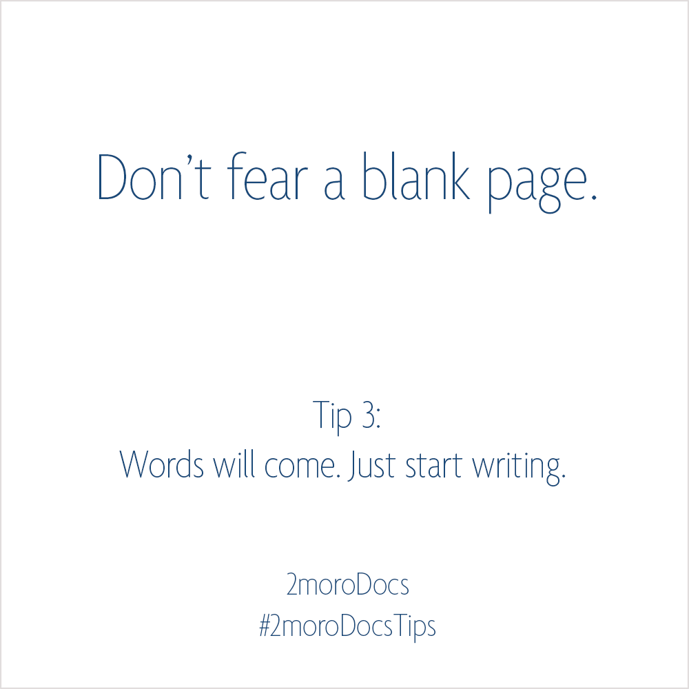 2moroDocs Tips Blank Page
