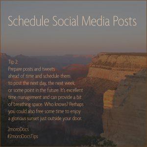 2moroDocs Tips Schedule Posts