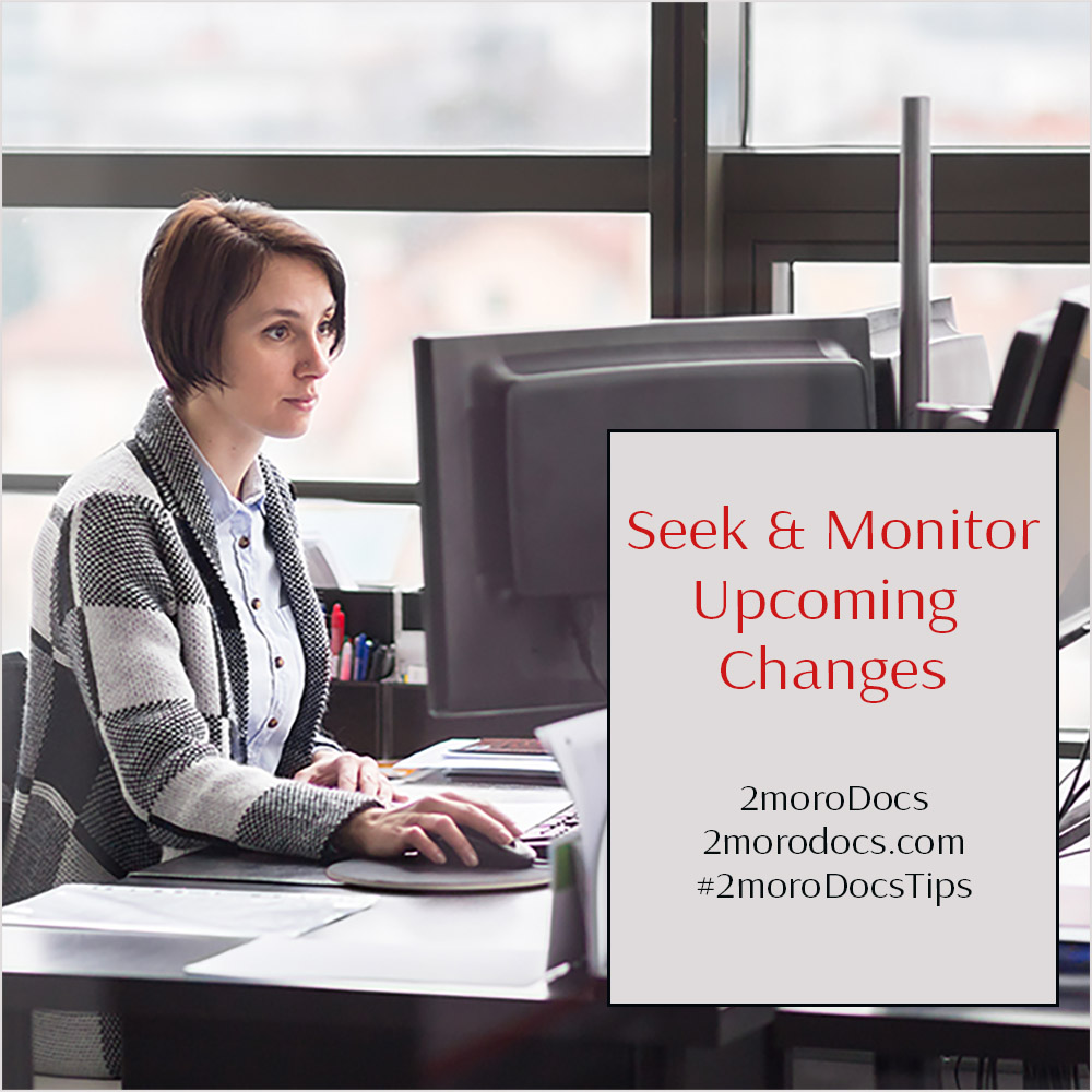2moroDocs Tips Monitor Changes