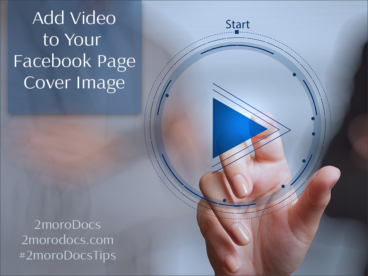 2moroDocs Tips Add Video Cover Image