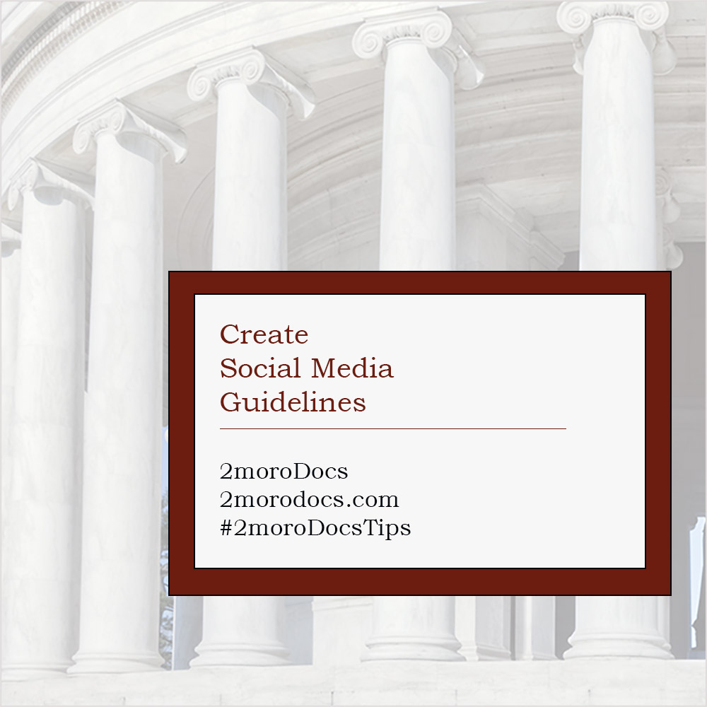 2moroDocs Tips Social Media Guidelines