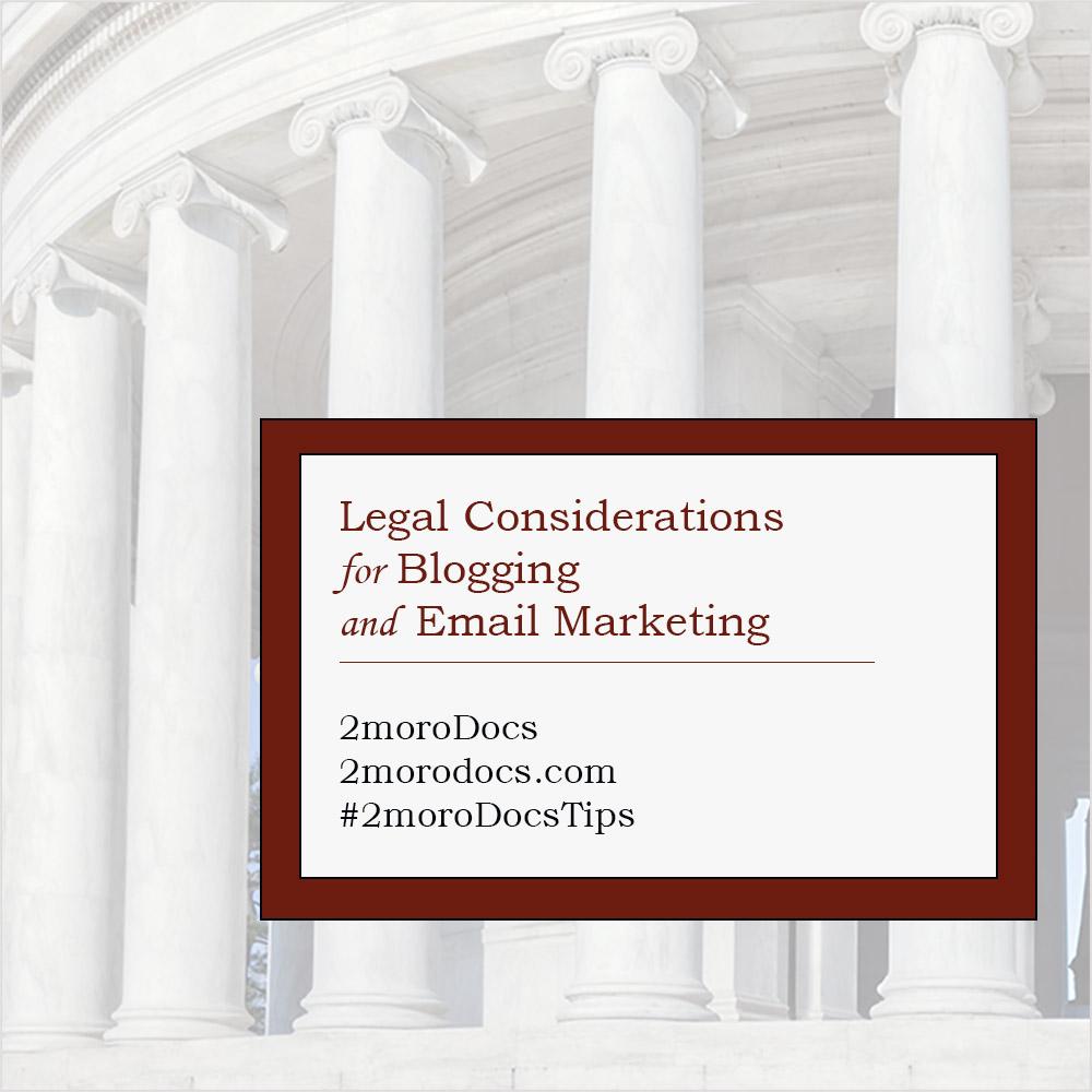 2moroDocs Tips Legal Considerations
