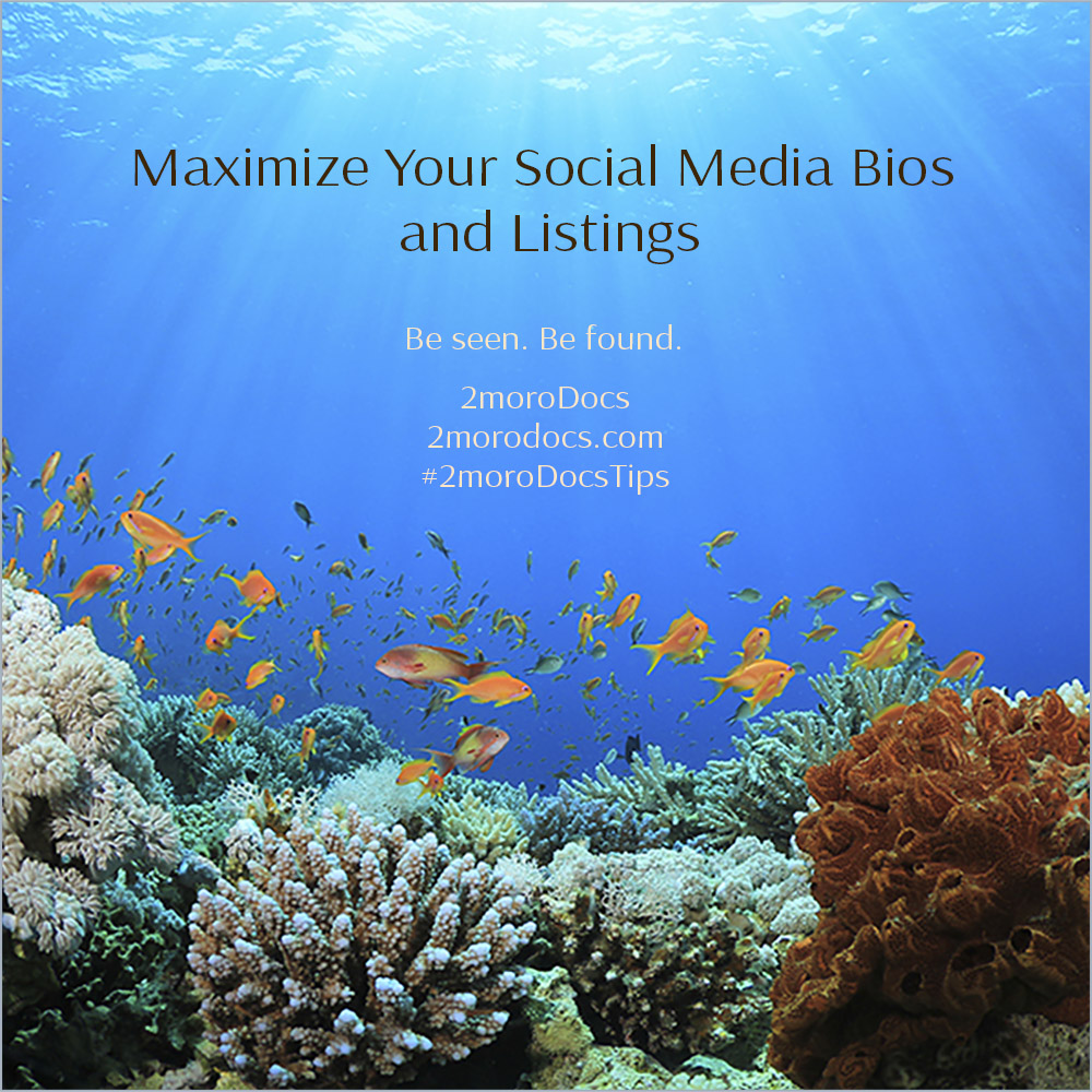 2moroDocs Tips Social Media Bios