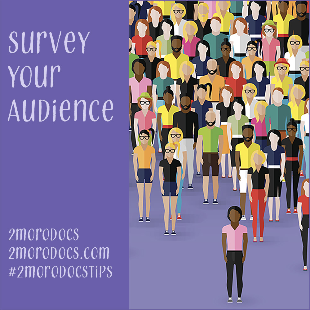 2moroDocs Tip Survey Audience