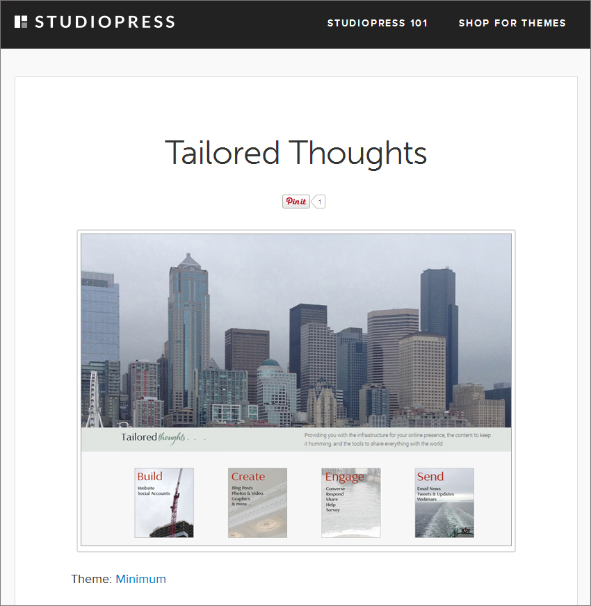 Tailored Thoughts Showcase Listing